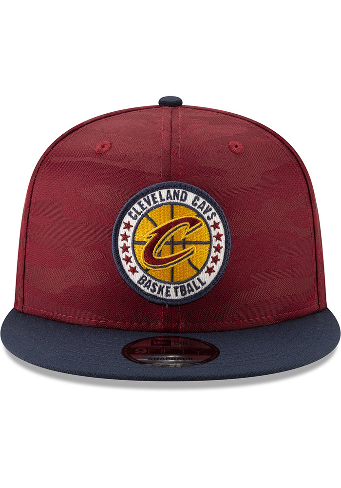 New Era Cleveland Cavaliers Maroon 2018 Tip Off 2T 9FIFTY Mens Snapback Hat - Image 3