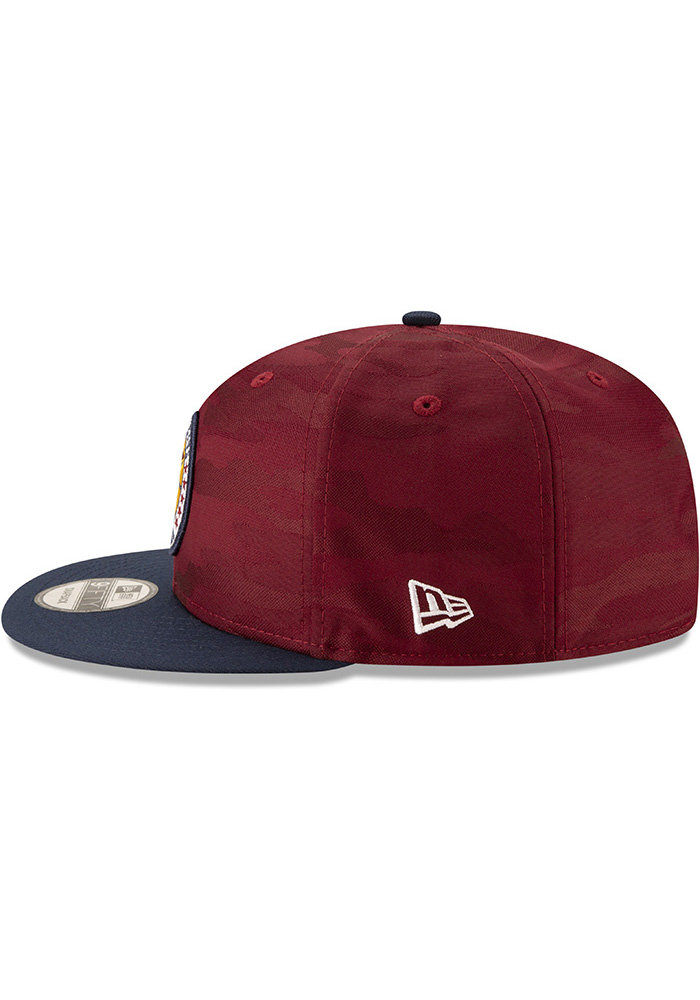 New Era Cleveland Cavaliers Maroon 2018 Tip Off 2T 9FIFTY Mens Snapback Hat - Image 4