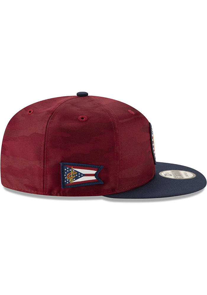 New Era Cleveland Cavaliers Maroon 2018 Tip Off 2T 9FIFTY Mens Snapback Hat - Image 6
