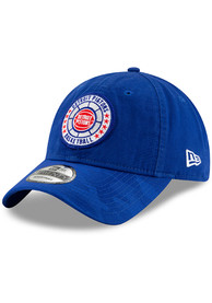 Detroit Pistons New Era 2018 Tip Off 9TWENTY Adjustable Hat - Blue