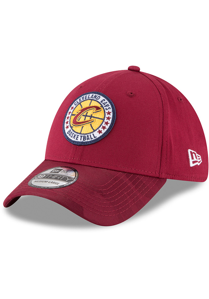 New Era Cleveland Cavaliers Mens Maroon 2018 Tip Off 39THIRTY Flex Hat - Image 1