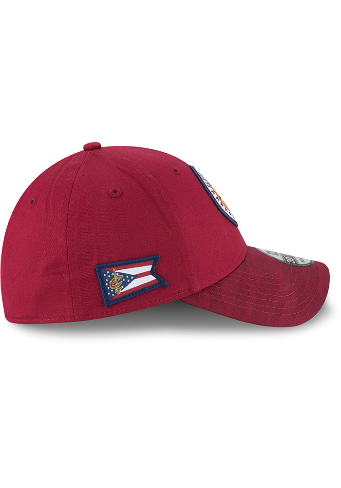 New Era Cleveland Cavaliers Mens Maroon 2018 Tip Off 39THIRTY Flex Hat - Image 6