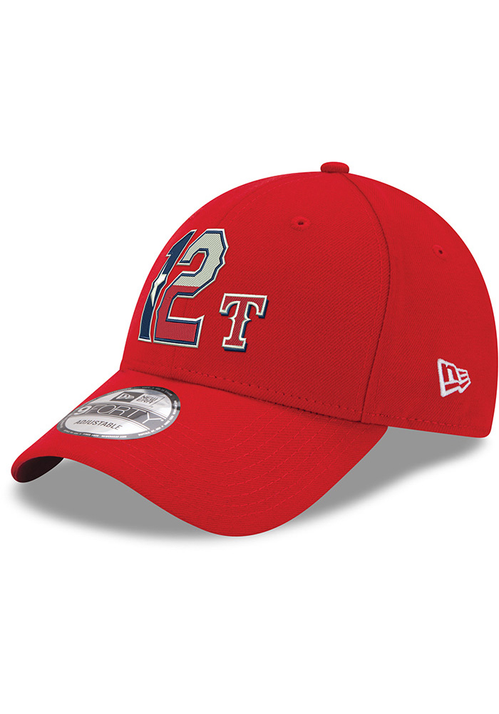 Rougned Odor Texas Rangers 9FORTY Adjustable Hat - Red - Image 1