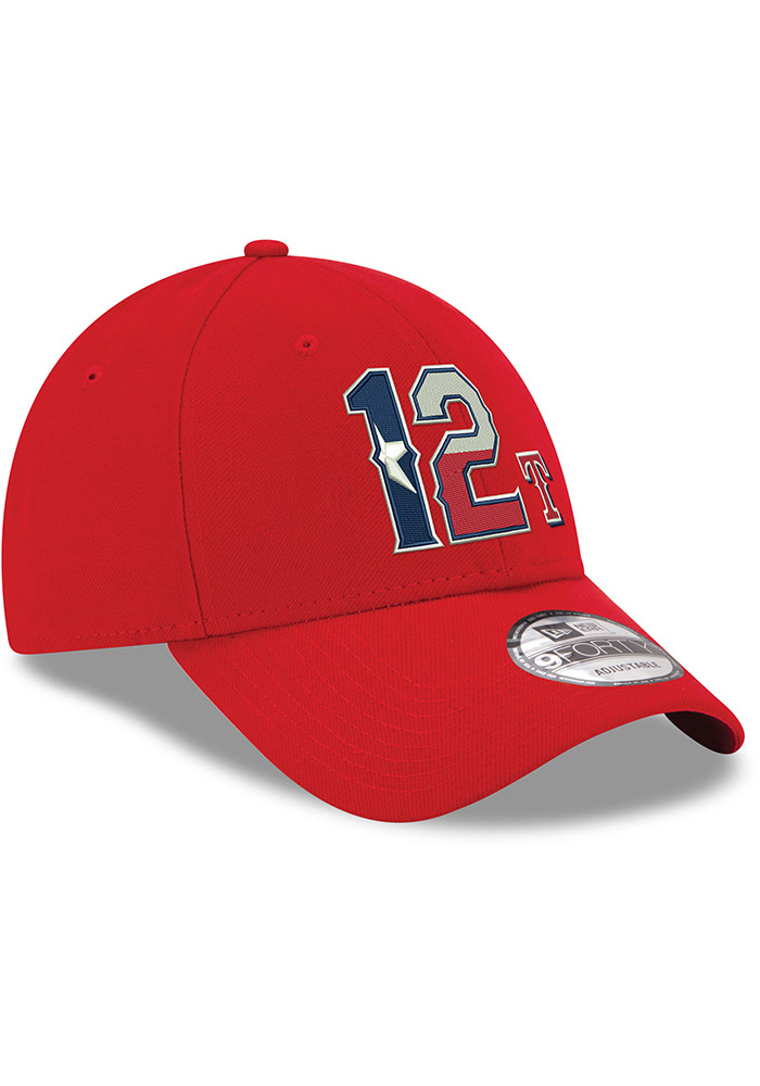 Rougned Odor Texas Rangers 9FORTY Adjustable Hat - Red - Image 2