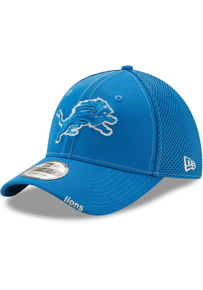 New Era Detroit Lions Blue Neo 39THIRTY Flex Hat 875ac9917