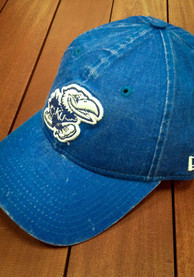 New Era Kansas Jayhawks Womens Blue Rugged Glisten LS 9TWENTY Adjustable Hat