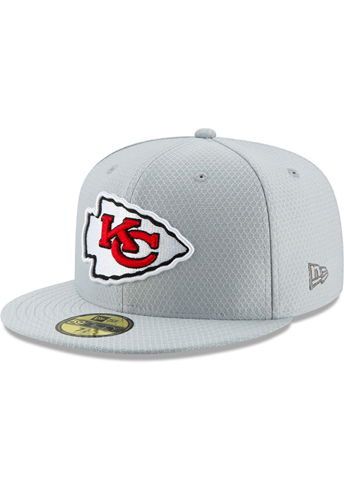 Kansas City Chiefs New Era Grey 2018 Crucial Catch 59FIFTY Fitted Hat 3d559dac8