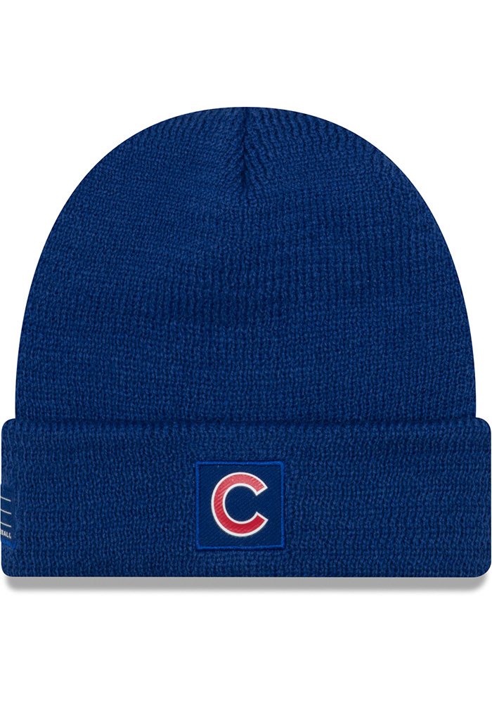 New Era Chicago Cubs Blue 2018 Junior Sport Youth Knit Hat - Image 1