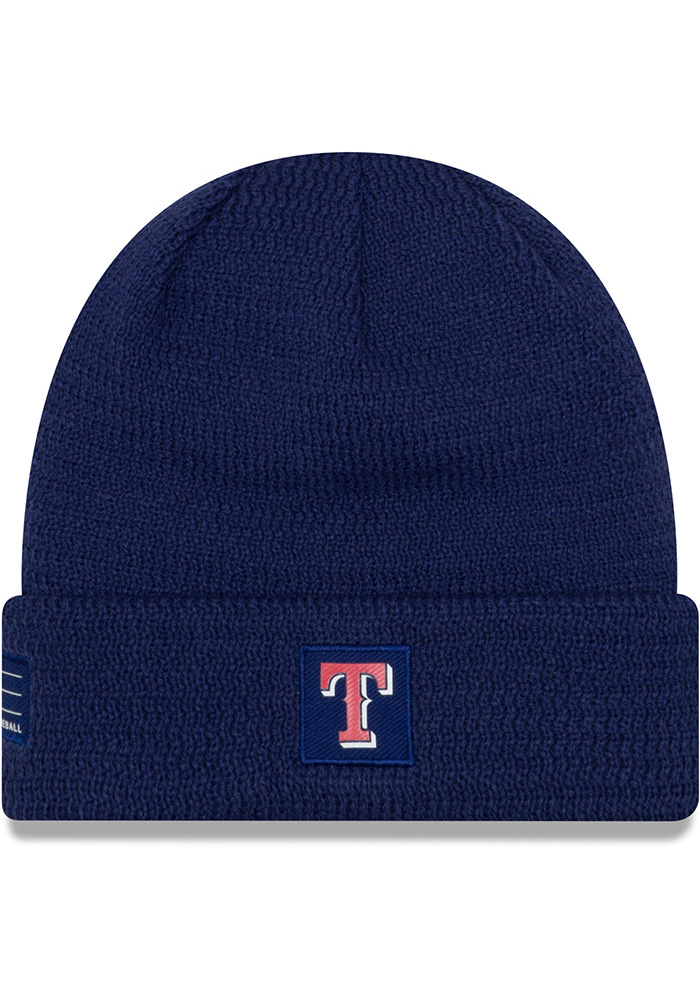 New Era Texas Rangers Blue 2018 Junior Sport Youth Knit Hat - Image 1