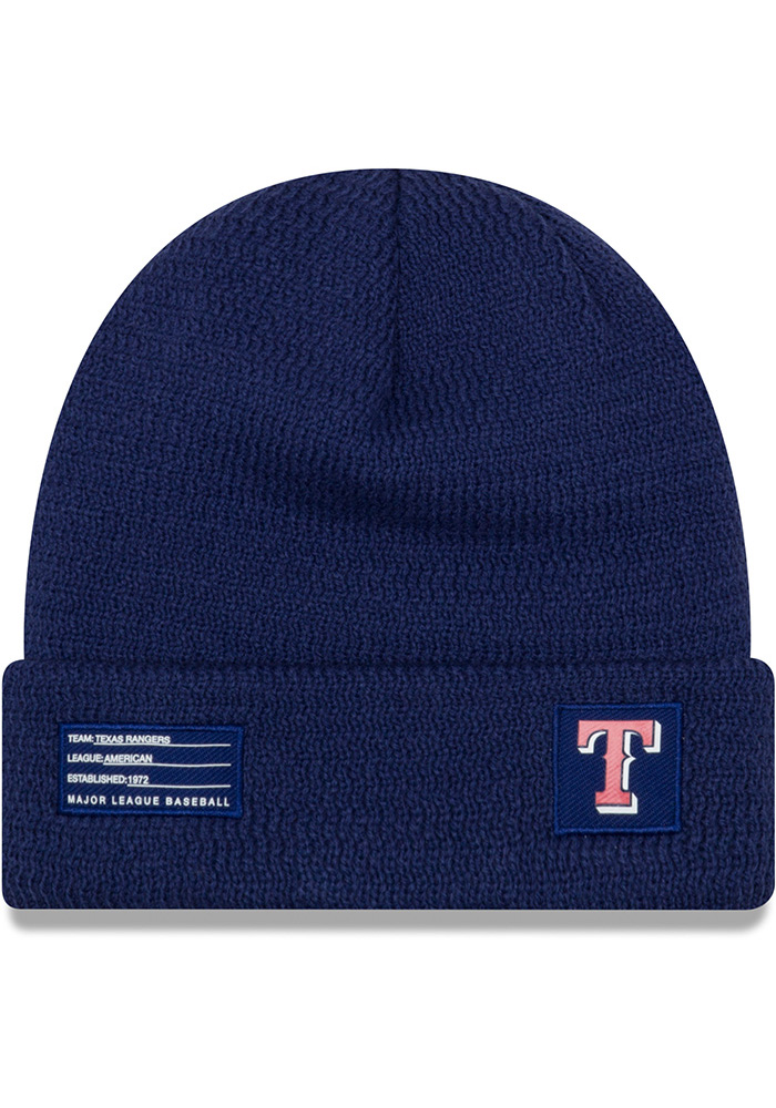 New Era Texas Rangers Blue 2018 Junior Sport Youth Knit Hat - Image 2