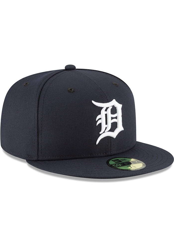 New Era Detroit Tigers Mens Navy Blue 2018 AC Home 59FIFTY Fitted Hat - Image 2