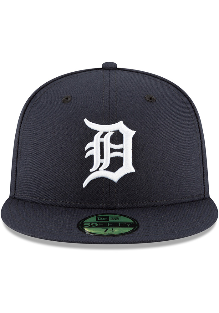 New Era Detroit Tigers Mens Navy Blue 2018 AC Home 59FIFTY Fitted Hat - Image 3