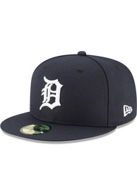 New Era Detroit Tigers Navy Blue 2018 AC Home Jr 59FIFTY Youth Fitted Hat