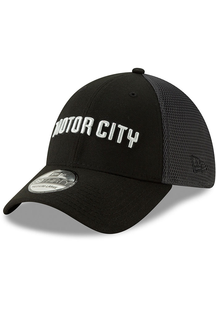 211087062 New Era Detroit Pistons Blue 2018 City Series 39THIRTY Flex Hat