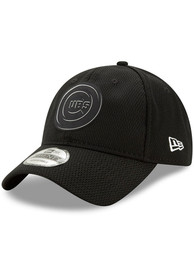 New Era Chicago Cubs Black 2019 Clubhouse JR 9TWENTY Youth Adjustable Hat