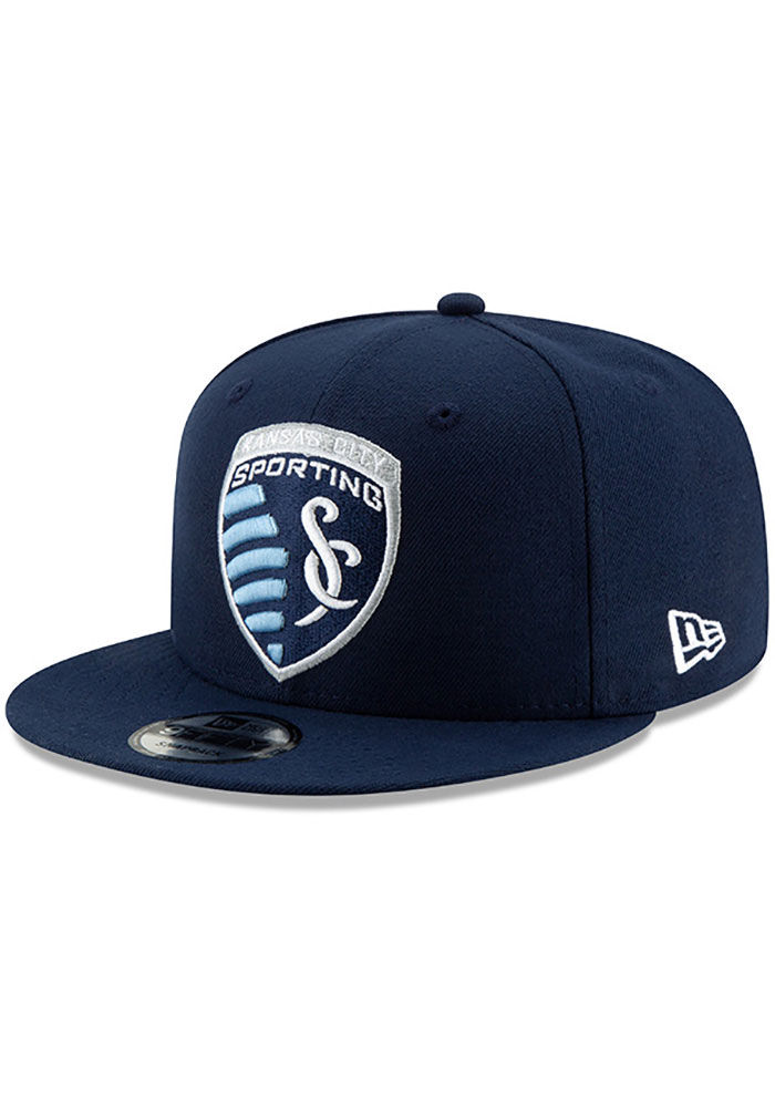 New Era Sporting Kansas City Mens Navy Blue Basic 59FIFTY Fitted Hat - Image 1