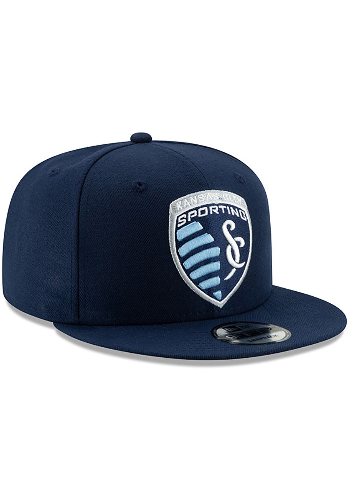 New Era Sporting Kansas City Mens Navy Blue Basic 59FIFTY Fitted Hat - Image 2