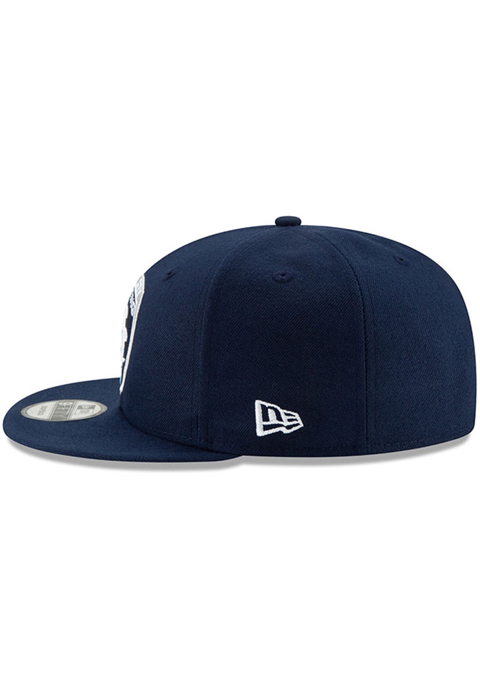 New Era Sporting Kansas City Mens Navy Blue Basic 59FIFTY Fitted Hat - Image 4
