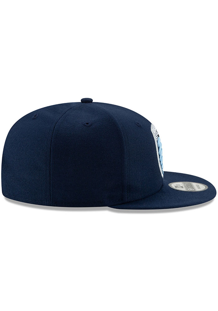 New Era Sporting Kansas City Mens Navy Blue Basic 59FIFTY Fitted Hat - Image 5
