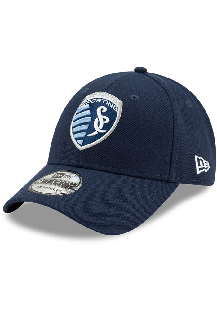 New Era Sporting Kansas City Basic 9FORTY Adjustable Hat - Navy Blue - Image 1