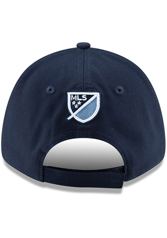 New Era Sporting Kansas City Basic 9FORTY Adjustable Hat - Navy Blue - Image 4