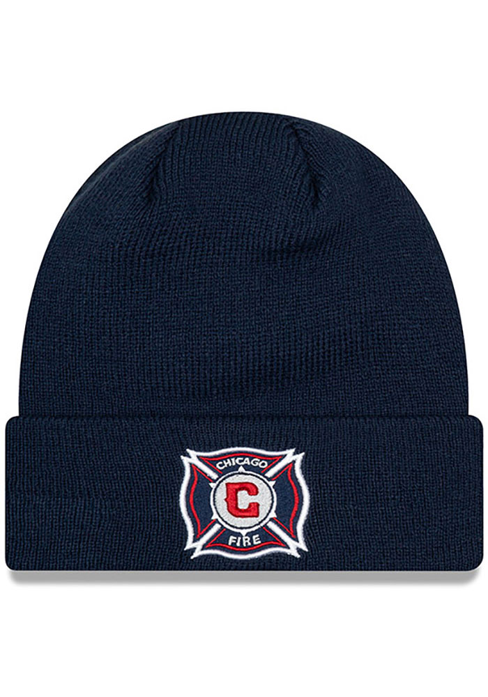 New Era Chicago Fire Navy Blue Basic Cuff Knit Hat