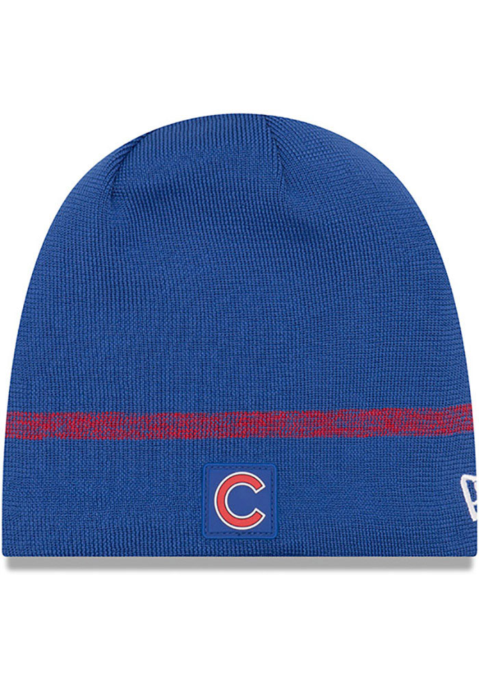 New Era Chicago Cubs Blue 2019 Clubhouse Jr Youth Knit Hat - Image 1