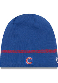 New Era Chicago Cubs Blue 2019 Clubhouse Jr Youth Knit Hat