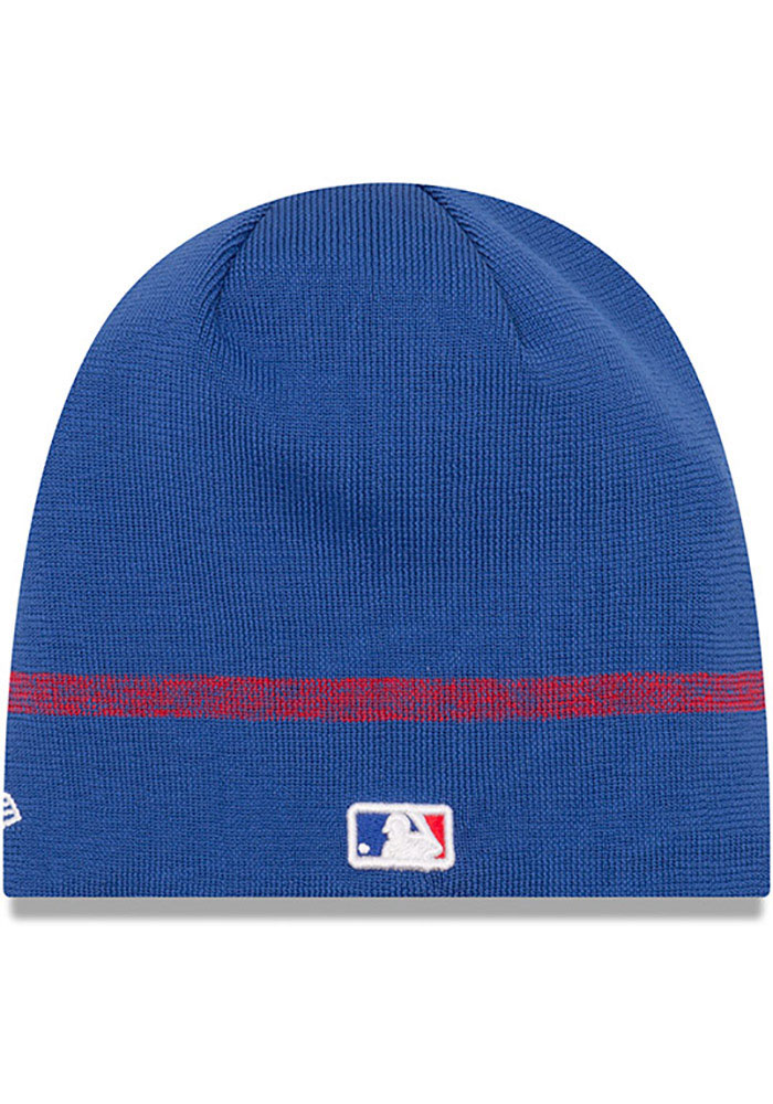 New Era Chicago Cubs Blue 2019 Clubhouse Jr Youth Knit Hat - Image 2