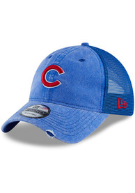 New Era Chicago Cubs Tonal Washed 2 9TWENTY Adjustable Hat - Blue