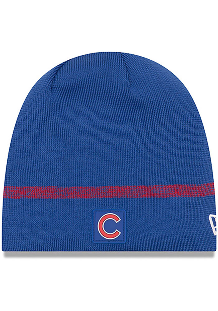 New Era Chicago Cubs Blue 2019 Clubhouse Knit Hat