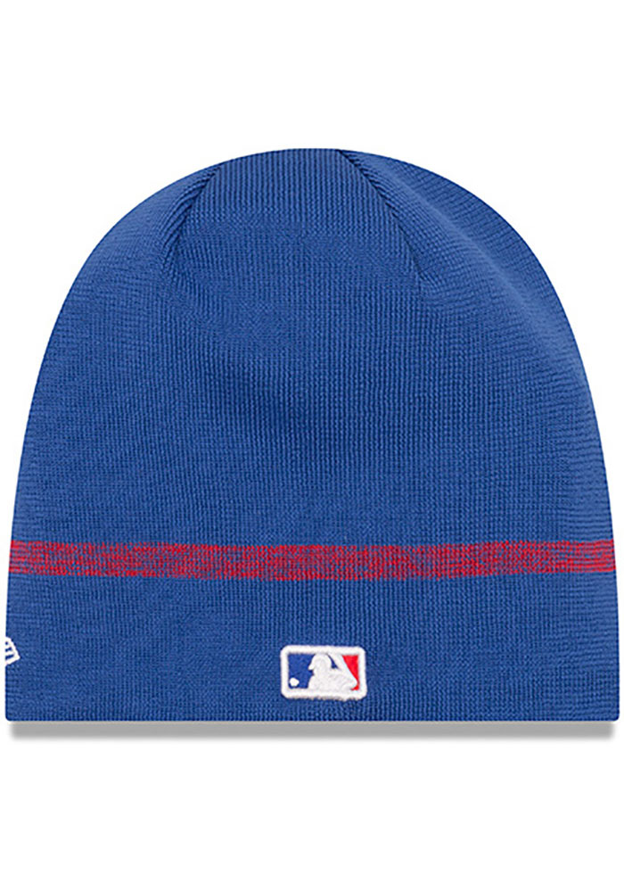 New Era Chicago Cubs Blue 2019 Clubhouse Mens Knit Hat - Image 2
