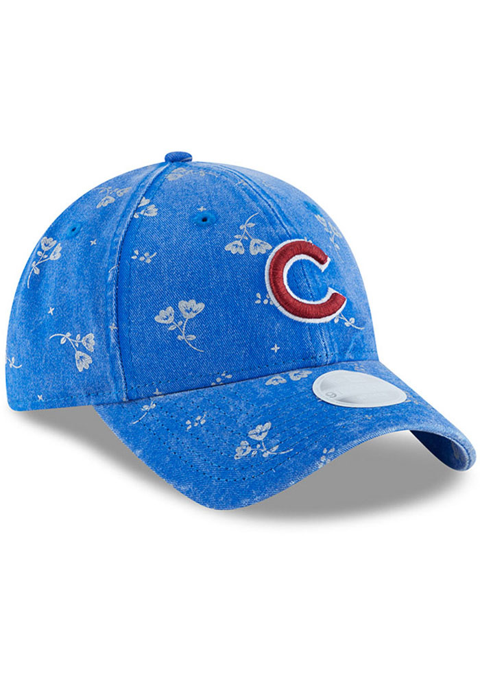 New Era Chicago Cubs Navy Blue Floral Shine 9TWENTY Womens Adjustable Hat - Image 2