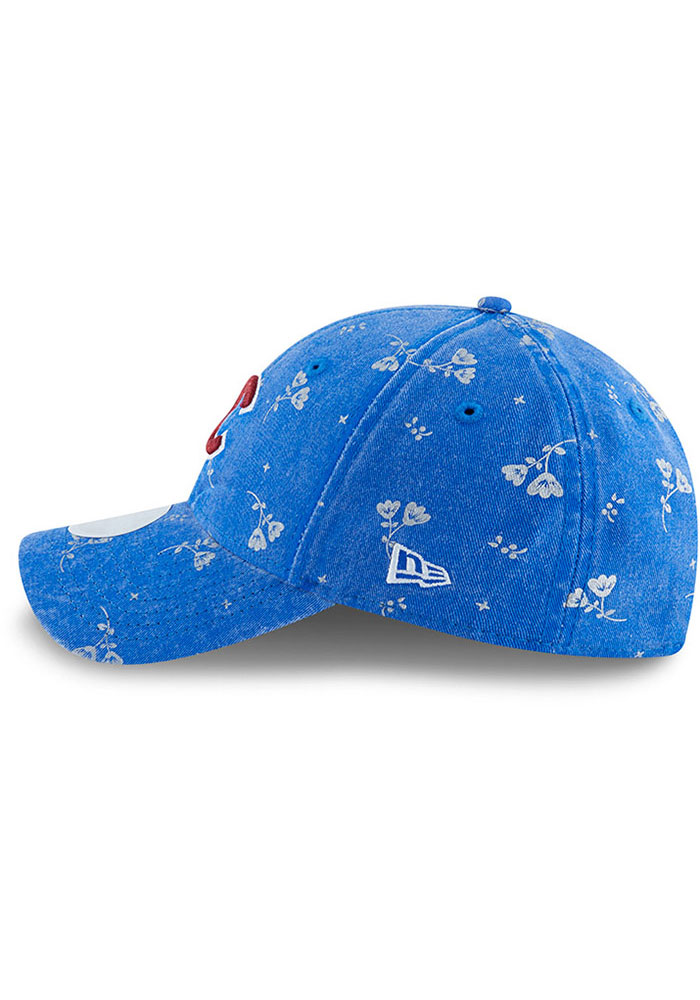 New Era Chicago Cubs Navy Blue Floral Shine 9TWENTY Womens Adjustable Hat - Image 4