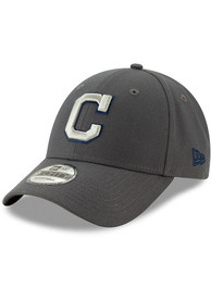 New Era Cleveland Indians Grey JR The League 9FORTY Youth Adjustable Hat