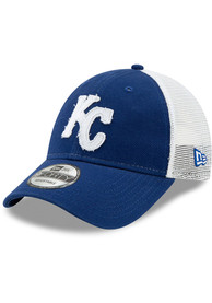 New Era Kansas City Royals Blue JR Team Truckered 9FORTY Youth Adjustable Hat