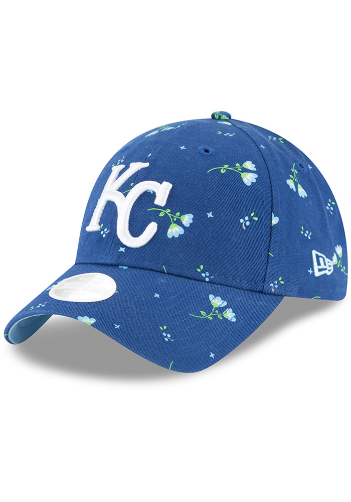 New Era Kansas City Royals Blue JR Blossom LS 9TWENTY Youth Adjustable Hat - Image 1