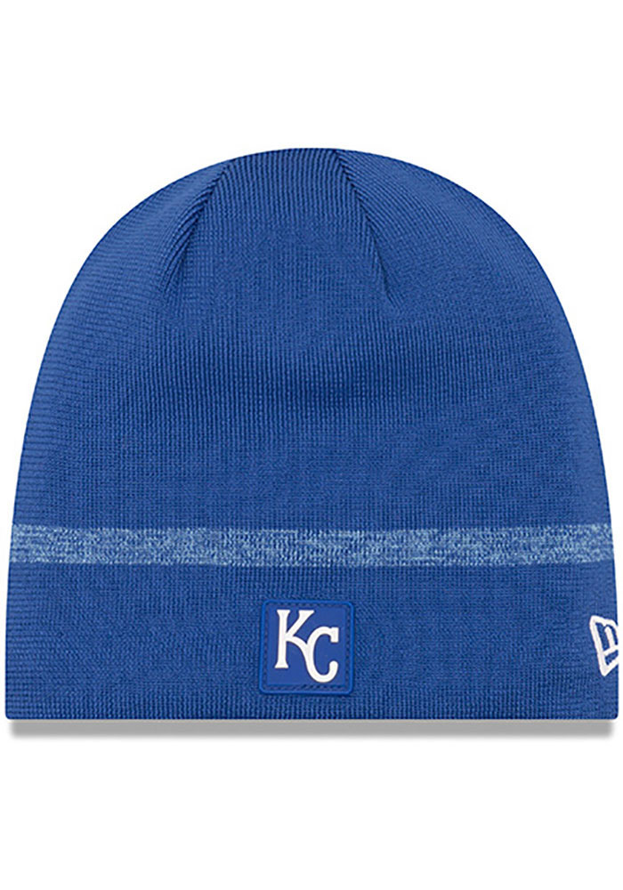 New Era Kansas City Royals Blue 2019 Clubhouse Jr Youth Knit Hat - Image 1