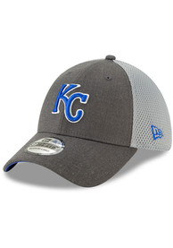 best loved 32730 cee19 New Era Kansas City Royals Grey Heather Front Neo 39THIRTY Flex Hat