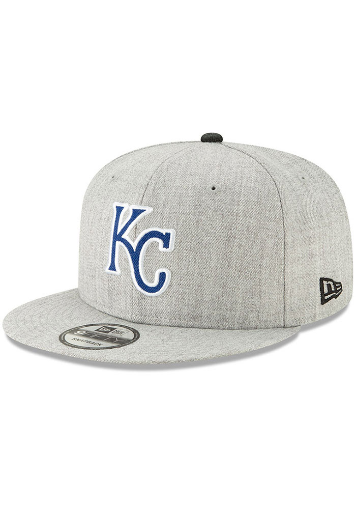 look out for new concept no sale tax New Era Kansas City Royals Grey Heather Hype 9FIFTY Mens Snapback ...