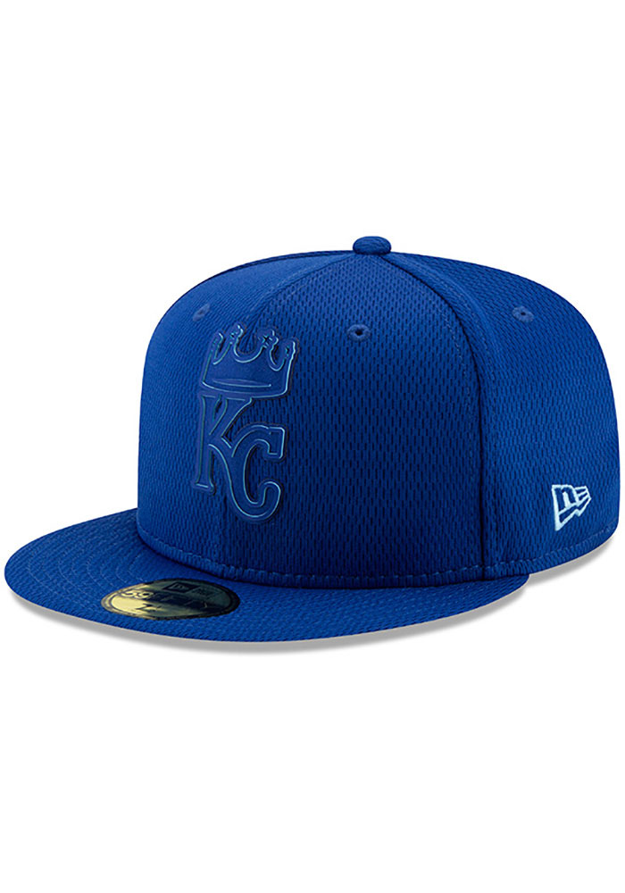 New Era Kansas City Royals Mens Blue 2019 Clubhouse 59FIFTY Fitted Hat - Image 1