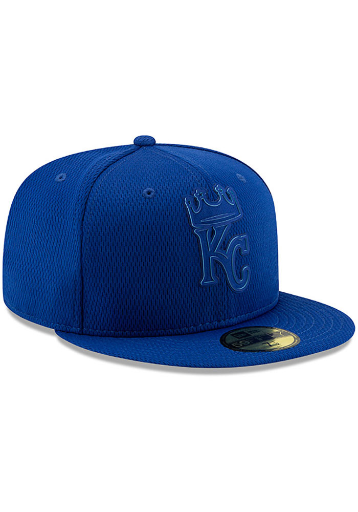 New Era Kansas City Royals Mens Blue 2019 Clubhouse 59FIFTY Fitted Hat - Image 2