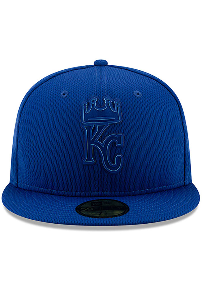 New Era Kansas City Royals Mens Blue 2019 Clubhouse 59FIFTY Fitted Hat - Image 3