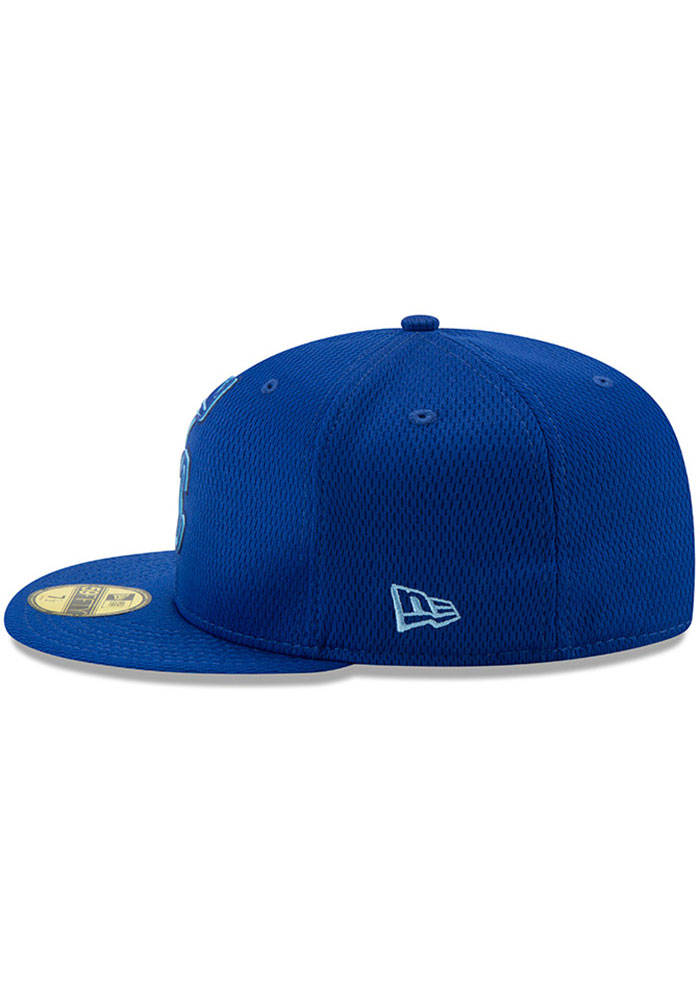 New Era Kansas City Royals Mens Blue 2019 Clubhouse 59FIFTY Fitted Hat - Image 4