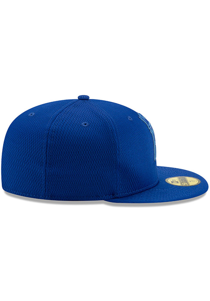 New Era Kansas City Royals Mens Blue 2019 Clubhouse 59FIFTY Fitted Hat - Image 6