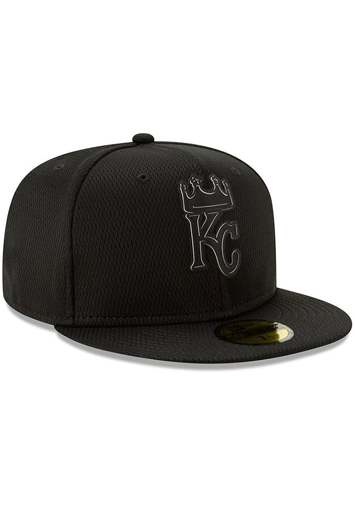 New Era Kansas City Royals Mens Black 2019 Clubhouse 59FIFTY Fitted Hat - Image 2