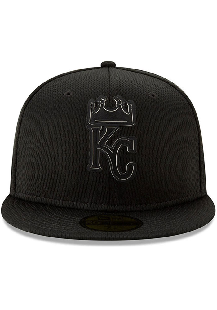 New Era Kansas City Royals Mens Black 2019 Clubhouse 59FIFTY Fitted Hat - Image 3