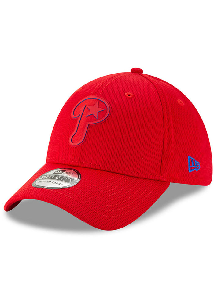 ba6fdf98e383d New Era Philadelphia Phillies Red 2019 Clubhouse JR 39THIRTY Youth Flex Hat  - Image 1