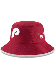 47188ac5236 New Era Philadelphia Phillies Maroon Coop Hex Team Bucket Hat