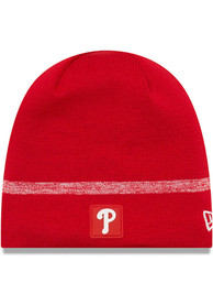 New Era Philadelphia Phillies Red 2019 Clubhouse Jr Youth Knit Hat